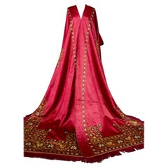 Indian Tent Or Palace Quartermaster In Embroidered Mughal satin - 19th century