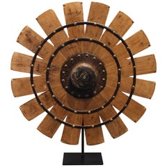 Indian Weaving Wheel on Stand