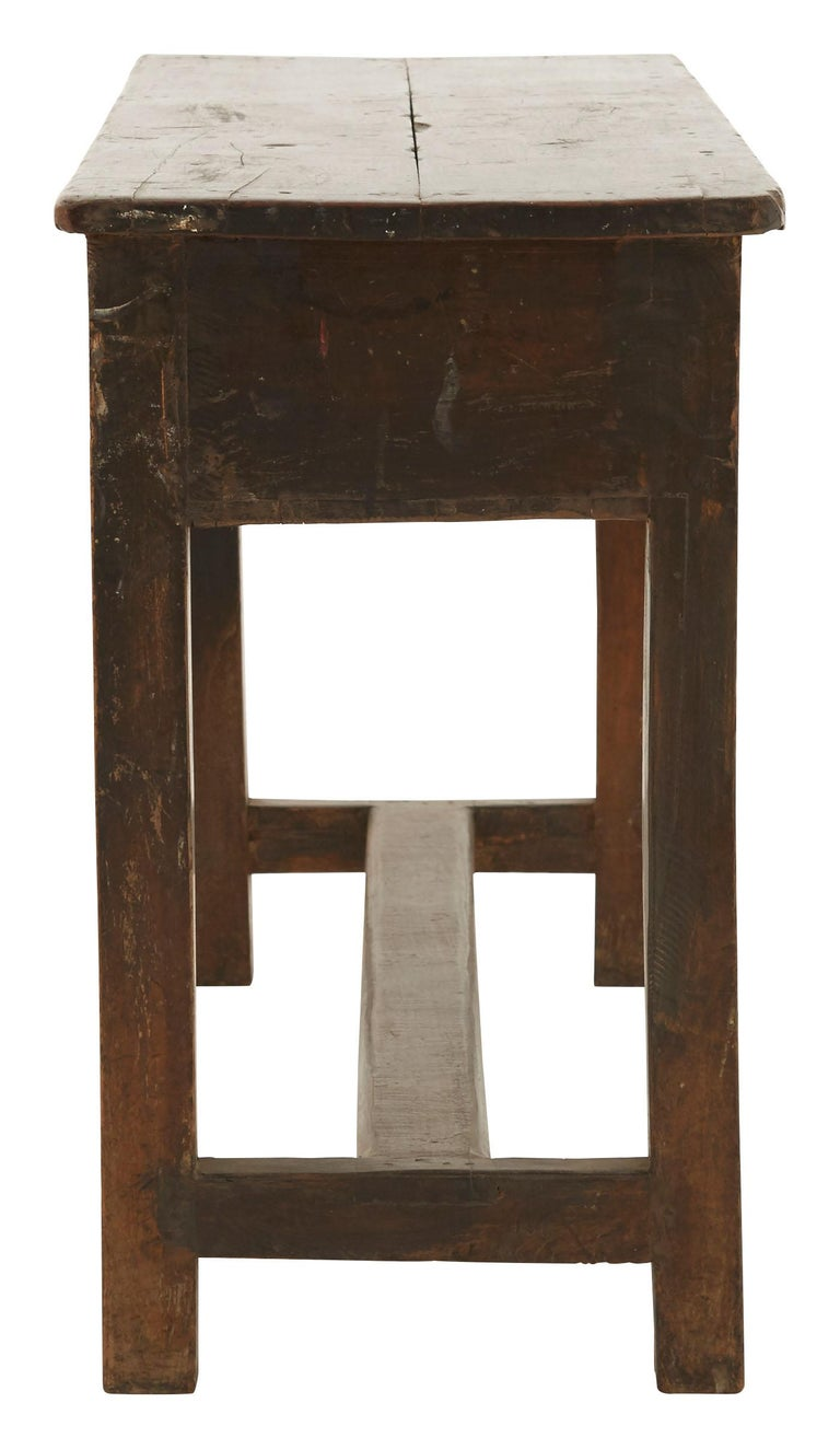 British Colonial Indian Wooden School Desk For Sale
