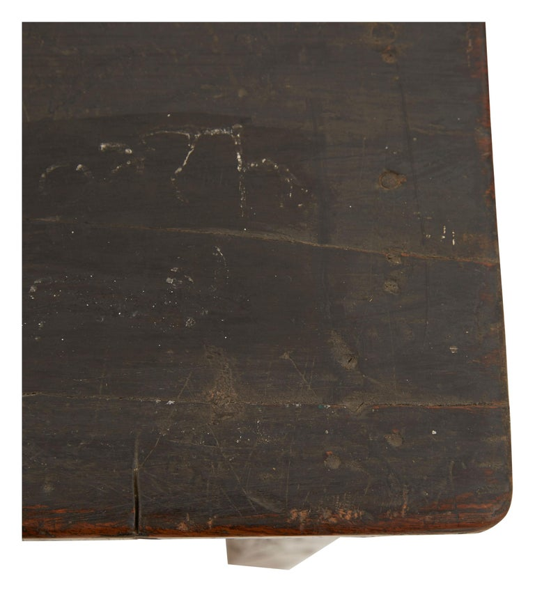 Indian Wooden School Desk For Sale 2