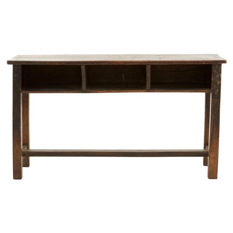 Indian Wooden School Desk For Sale