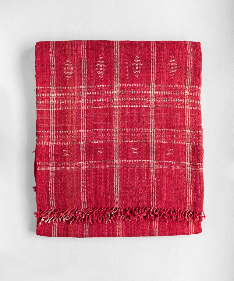 Indian Wool Throw, 20th Century For Sale 1