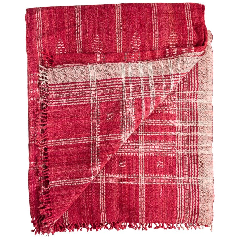 Indian Wool Throw, 20th Century For Sale