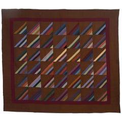 Indiana Amish Roman Stripes Quilt