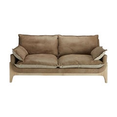 Indiana Sofa High Quality Genuine Leather and Linen