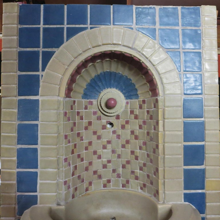 Ceramic Indianapolis Motor Speedway Tile Fountain by Rookwood Pottery, 1909 For Sale