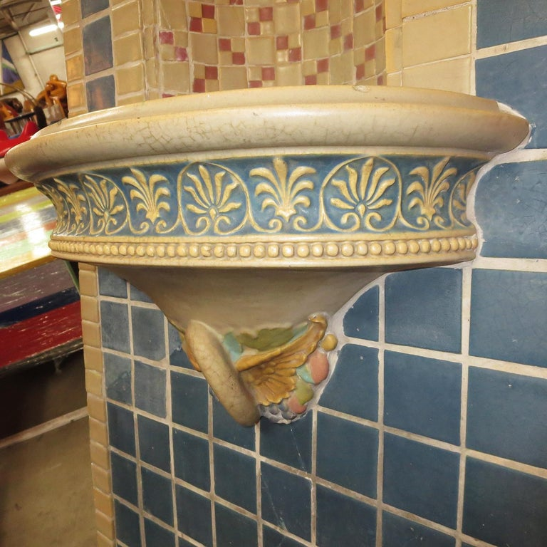 Indianapolis Motor Speedway Tile Fountain by Rookwood Pottery, 1909 For Sale 1
