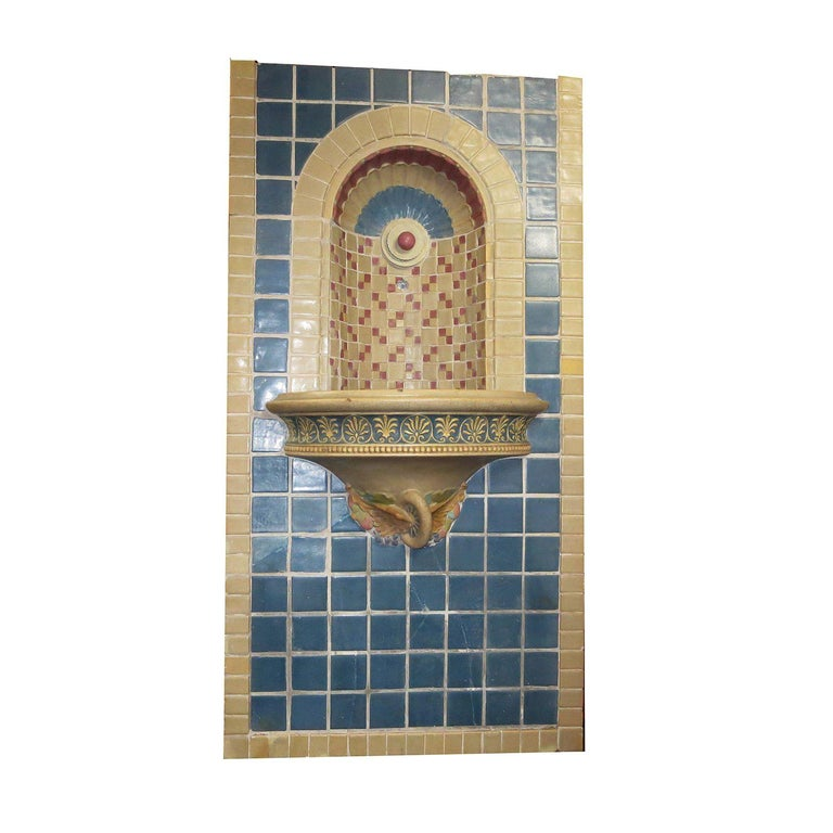 Indianapolis Motor Speedway Tile Fountain by Rookwood Pottery, 1909 For Sale