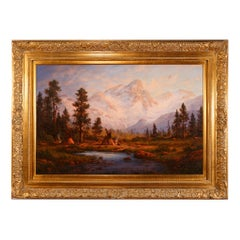 """""""Indians of the High Sierras"""" Original Painting by Heinie Hartwig"""