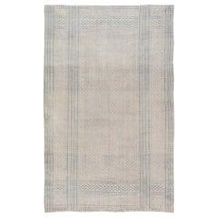 Indigo Antique Indian Cotton Flat-Weave Rug