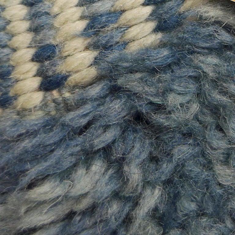 Indigo Beni Ouarain Moroccan Berber Rug For Sale 1