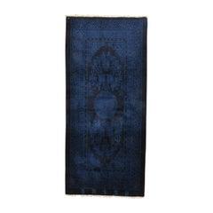 Indigo Blue Antique Chinese Pao Tao Rug