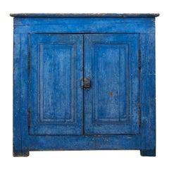 Indigo Blue 19th Century Antique French Buffet Cabinet