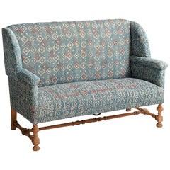 Indigo Quilt Sofa, England, circa 1930