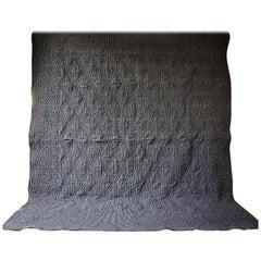 Indigo Striped Cotton Quilt French 19th Century