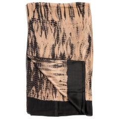 IndiGold Black Silk Scarf