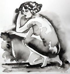 Sheila, Painting, Nude, Figurative Art, Work on Paper, Signed, Framed