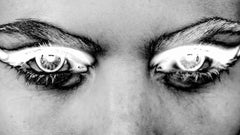 ONLY YOU No 10, Photography, Black and White, Aluminum, Surreal, Eyes, Signed