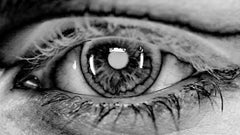 ONLY YOU No 119, Photography, Black and White, Aluminum, Portrait, Eyes, Signed