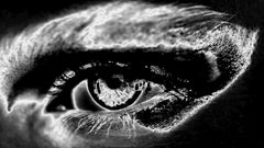 ONLY YOU No 27, Photography, Black and White, Aluminum, Portrait, Eyes, Signed