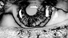ONLY YOU No 600, Photography, Black and White, Aluminum, Portrait, Eyes, Signed