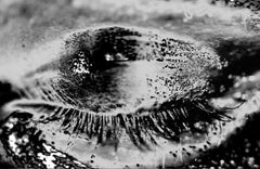 ONLY YOU No 602, Photography, Black and White, Aluminum, Portrait, Eyes, Signed