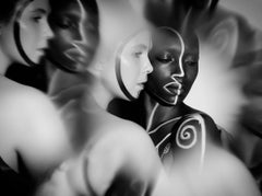 The Labyrinth - Iyanna and Svala, Photography, Black & White on Aluminum, Signed