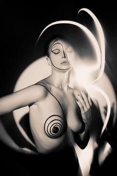 The Labyrinth Natalya Electric No 3, Medium Format Photography, Aluminum, Signed