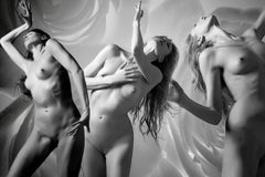Three Graces and The Rose No 3 Featuring Katherine Crockett, Photography, Signed