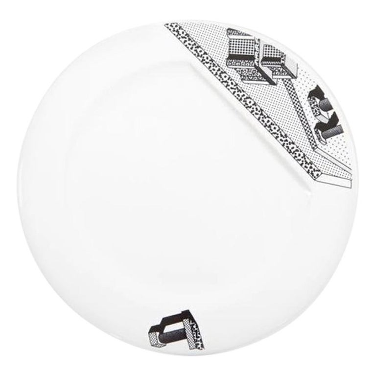 Indivia Ceramic Plate, by Ettore Sottsass from Memphis Milano For Sale