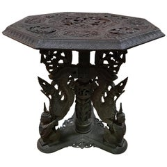 Indo-Chinese 19th Century Carved Table