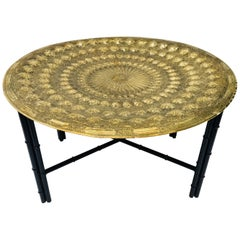 Indo Persian Brass Metal Tray Table