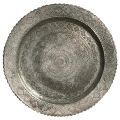 Indo-Persian Etched and Tinned Copper Tray