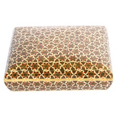 Indo Persian Sadeli Micro Mosaic Bone Inlaid Decorative Box