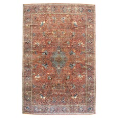 Indo-Tabriz Pictorial Carpet in the Style of the Persian Silk Vienna Hunting Rug