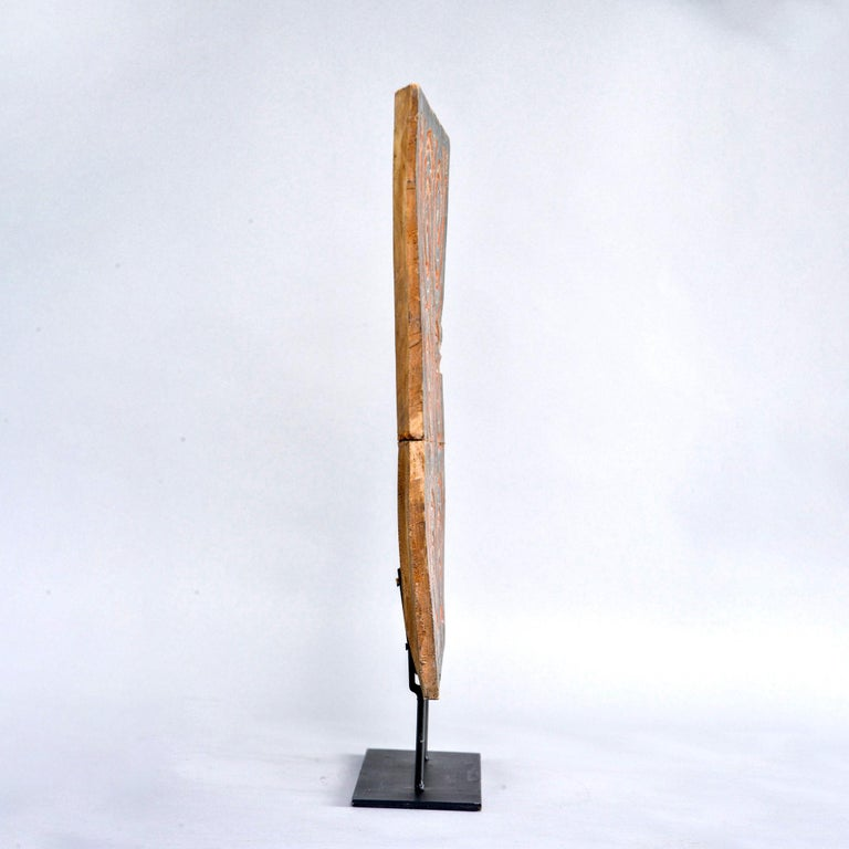 20th Century Indonesian Architectural Piece on Metal Stand For Sale