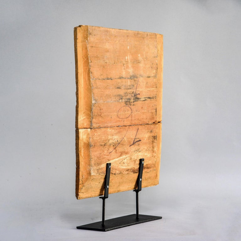 Indonesian Architectural Piece on Metal Stand For Sale 2