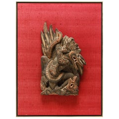 Indonesian Carved Garuda Wood Sculpture