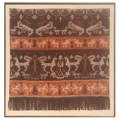 Indonesian Ikat Woven Art from Modern Steve Chase Palm Springs Estate