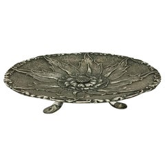 Indonesian Silver Yogya 3-Legged Bowl with Floral Pattern