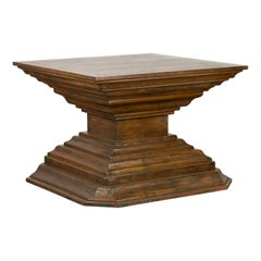 Indonesian Vintage Pagan Dynasty Style Pyramid-Shaped Console Pedestal Table