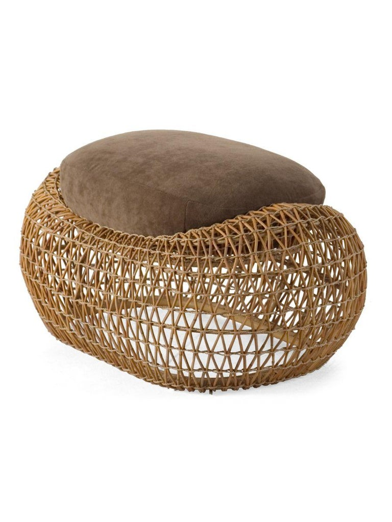 Modern Indoor Balou Ottoman by Kenneth Cobonpue For Sale