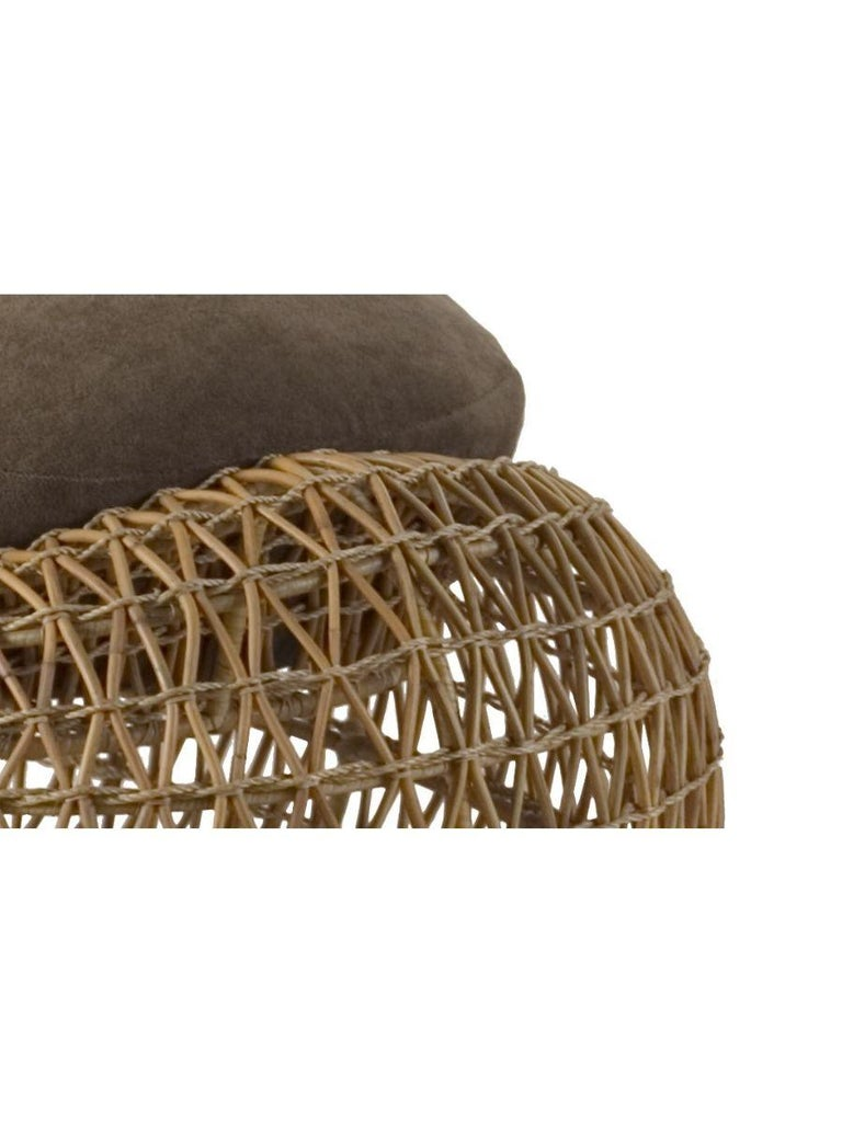 Philippine Indoor Balou Ottoman by Kenneth Cobonpue For Sale