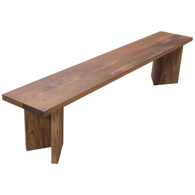 Indoor or Outdoor Bench Made from Teak by Petersen Antiques For Sale
