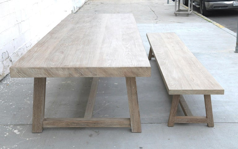 Indoor or Outdoor Teak Dining Table For Sale 7