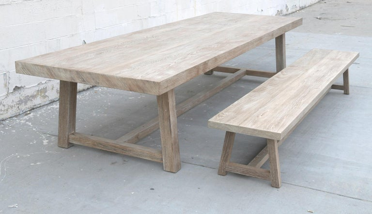 Indoor or Outdoor Teak Dining Table For Sale 8