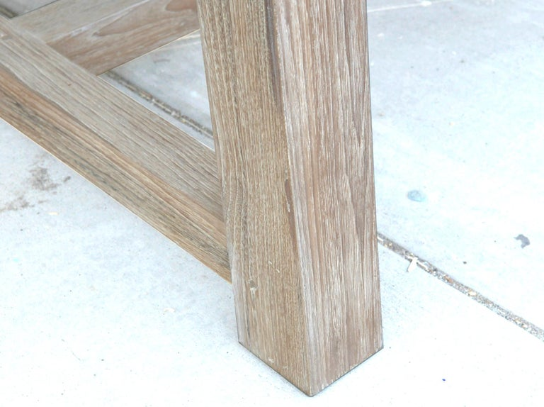 Indoor or Outdoor Teak Dining Table For Sale 10