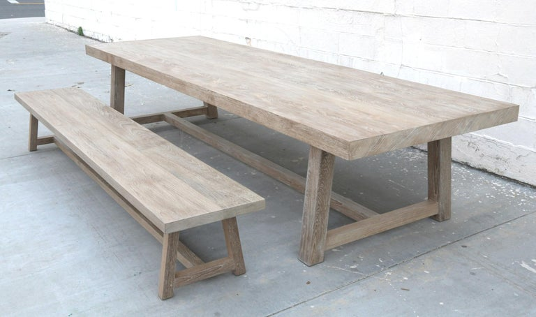 American Craftsman Indoor or Outdoor Teak Dining Table For Sale
