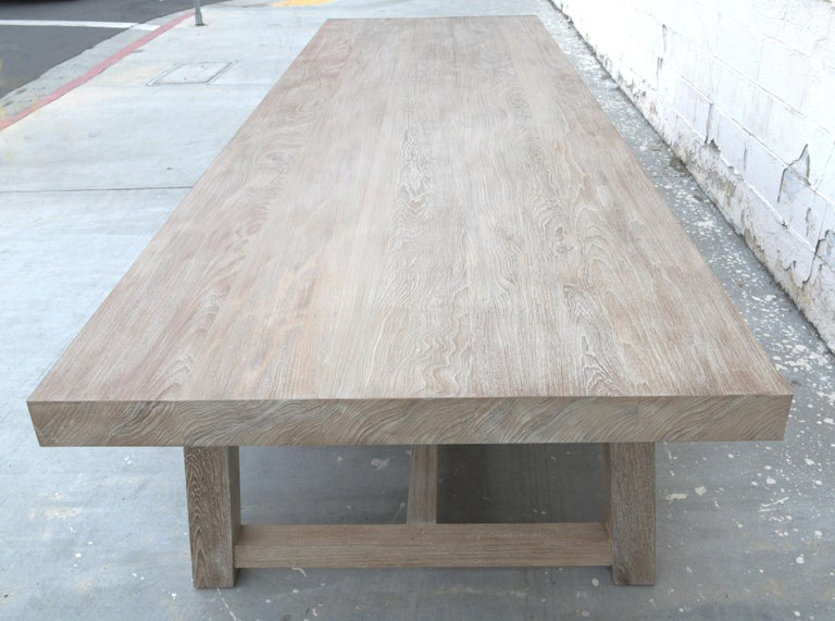 Indoor or Outdoor Teak Dining Table In New Condition For Sale In Los Angeles, CA