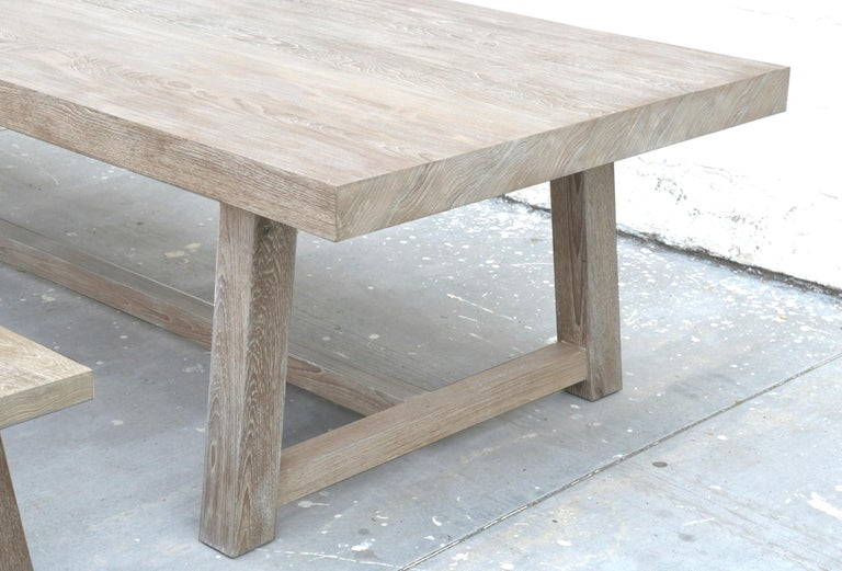 Contemporary Indoor or Outdoor Teak Dining Table For Sale
